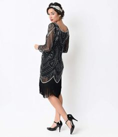 Long sleeve 20s style dress