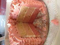 Inside ruffle cake - pink vanilla layer cake