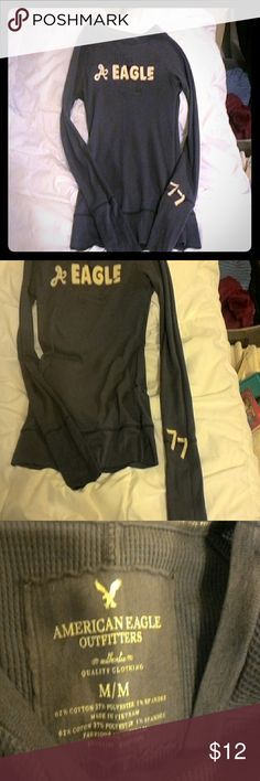 American Eagle long sleeve thermal Purple AE long sleeve thermal size M American Eagle Outfitters Tops Tees - Long Sleeve