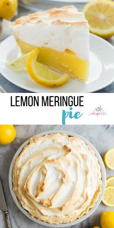 This easy Lemon Meringue Pie is cool, creamy and tangy -- the perfect dessert for any occasion! Go totally homemade or take some shortcuts if you're out of time ;) #lemon #dessert #easter #pie #baking #recipe | lemon pie | easter dessert | spring dessert