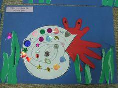 Hermit Crab Handprint art