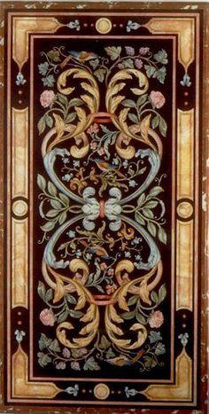 Matteo Nigetti, Panel with a Vase of Flowers, Decoupage, Art Decor, Decoration, Miniature Furniture, Floor Design, Islamic Art, Painted Furniture, Baroque Furniture, Pattern Art