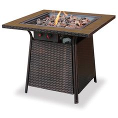 "UniFlame 30000 BTU 32"" Bronze Steel Liquid Propane Fire Pit $299"