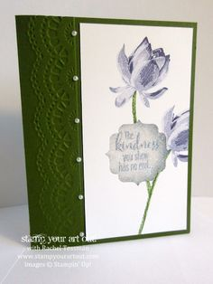 Glitter Window card made with the 2015 Sale-A-Bration Lotus Blossom stamp set… Stampin' Up!® #stampyourartout #stampinup - Stamp Your Art Out! www.stampyourartout.com