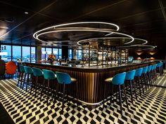 George Bar Grill | Inspiring Lighting_See more inspiring articles at: www.delightfull.eu/en/inspirations/
