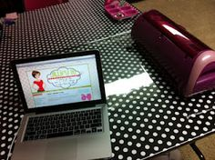 Folding Table Makeover (Wrapping Paper & Clear Vinyl)