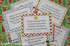 Nativity Story 12 Days of Christmas FREE printables (these are for the 12 days leading up to Christmas. They are cards that tell the story of the nativity over the course of 12 days - not related to the song) Christmas Poems, Christmas Nativity, Christmas Traditions, Holiday Fun, Christmas Holidays, Christmas Crafts, Christmas Neighbor, Christmas Program, Merry Christmas