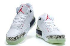 f491128e298028 Air Jordan Cement 3 III Retro Mens Shoes Glowing White Black