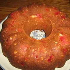 This is really two recipes in one - 6 cups of brandied fruit, and 2 cups of starter for the Thirty Day Friendship Cake. Friendship Bread Starter, Amish Friendship Bread, Amish Recipes, Cake Recipes, Cooking Recipes, Bread Recipes, Dessert Recipes, Cupcake Cakes, Bundt Cakes