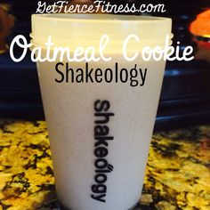 Oatmeal Cookie Shakeology. 1 scoop Vanilla , 16 oz. Unsweetened almond milk, 1 tsp uncooked oatmeal, 1/2 tsp cinnamon,  couple raisins, ice to taste, blend.  #shakeologyrecipe #21dayfixrecipe #proteinshake Go to http://www.michellebockhorn2.com to try Shakeology