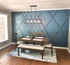 Accent Walls In Living Room, Dining Room Walls, Dining Room Design, Wood Accent Walls, Dining Room Feature Wall, Wood On Walls, Wood Wall Paneling, Dining Room Paneling, Living Room Wall Designs