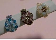 ちがうビーズだと、雰囲気もがらっと変わります。 Diamond Earrings, Projects To Try, Floral, Handmade, Jewelry, Design, Hand Made, Jewlery, Jewerly