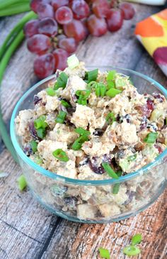 A Sweet And Smoky Chicken Salad Made Lighter With Greek Yogurt Cranberries Celery