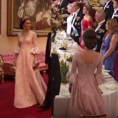 Catherine Duchess of Cambridge at the State banquet in honor of the Spanish State Visit. July 2017