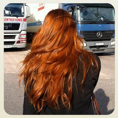Henna hair experiment by ~Ilse, via Flickr. Such a pretty color