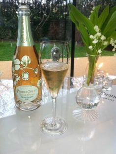 Perrier Jouet limited edition #champagne This is my Favorite Champagne and I adore the bottles and glasses with the flowers...~Lady Luxury~