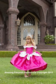 Sleeping Beauty Princess Dress Costume by 7dwarfsworkshop on Etsy, $55.00