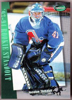 QUEBEC NORDIQUES 1994-95 PARKHURST ROOKIE STANDOUT JOCELYN THIBAULT FREE SHIP #QUEBEC Nhl, Hockey Cards, Baseball Cards, Quebec Nordiques, Ice Hockey, Motorcycle Jacket, The Originals, Sports, Gallery