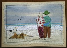 Applique Ideas, Applique Patterns, Embroidery Applique, Machine Embroidery, Sewing Cards, Fabric Pictures, Sewing Appliques, Mug Rugs, Needle And Thread