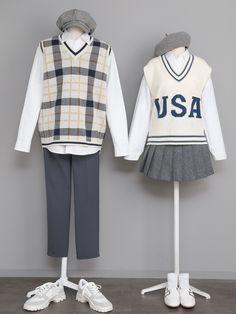 Korean Street Fashion - Life Is Fun Silo Fashion Couple, Cute Fashion, Fashion Outfits, Pretty Outfits, Cool Outfits, Casual Outfits, Korean Street Fashion, Korea Fashion, Estilo Goth Pastel