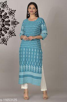 Kurtis & Kurtas Women's Printed Cotton Kurti Fabric: Cotton Sleeve Length: Three-Quarter Sleeves Pattern: Printed Combo of: Single Sizes: S (Bust Size: 36 in, Size Length: 46 in)  XL (Bust Size: 42 in, Size Length: 46 in)  4XL (Bust Size: 48 in, Size Length: 46 in)  L (Bust Size: 40 in, Size Length: 46 in)  M (Bust Size: 38 in, Size Length: 46 in)  XXXL (Bust Size: 46 in, Size Length: 46 in)  XXL (Bust Size: 44 in, Size Length: 46 in)  Country of Origin: India Sizes Available: S, M, L, XL, XXL, XXXL, 4XL   Catalog Rating: ★4 (472)  Catalog Name: Aakarsha Drishya Kurtis CatalogID_2200030 C74-SC1001 Code: 093-11653125-9951