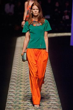 Kenzo Paris Fashion Week Spring 2013 Runway Looks - Best Spring 2013 Runway Fashion - Harper's BAZAAR