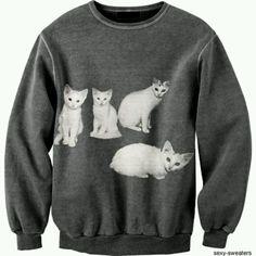 sweater fashion | Cat sweater. | Walk, Walk, Fashion Baby.