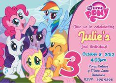 My Little Pony Birthday Invitation.