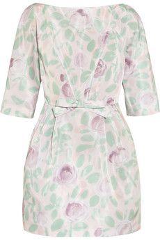 REDValentino Floral-print taffeta mini dress  | NET-A-PORTER