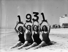 Call me cheesy, but wouldn't this be a fun photo to recreate? Swimwear, 1931.