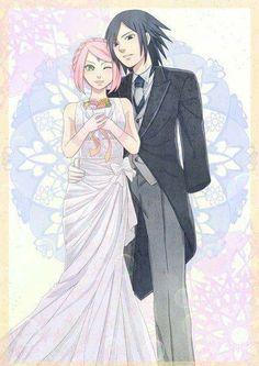 Sasuke and Sakura Uchiha Wedding Wallpaper ♥♥♥  #Love #Couple #Family #SasuSaku #Powerful #Suffering