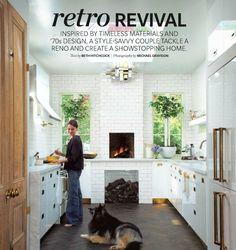 ikea kitchen + campaign style hardware + love the floor