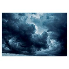 Dark Clouds photograph Digital Download Fine Art Photography tempest... ($6.70) ❤ liked on Polyvore featuring home, home decor, wall art, blue, filler photos, backgrounds, cloud picture, photo wall art, photo picture and blue wall art