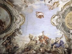 CORTONA, Pietro da Landing of the Trojans at the Mouth of Tiberis 1651-54 Fresco Palazzo Pamphilj, Rome