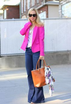 perfect business casual :) pink blazer!
