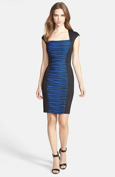 JAX Cap Sleeve Colorblock Sheath Dress available at #Nordstrom