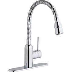Elkay Chrome Everyday Single-Lever Pursuit Flexible Spout Laundry/Utilty Faucet Low Flow Solid brass waterway construction GPM flow regulator installed with GPM flow regulator included Removable cartridge Forward only handles Kitchen Handles, Brass Handles, Faucet Kitchen, Kitchen Appliances, Utility Sink Faucets, Commercial Faucets, Sink Drain, Plumbing Fixtures, Kitchen And Bath