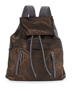 fall 15 Brunello Cucinelli Calf Hair and Flannel Backpack, Bronze