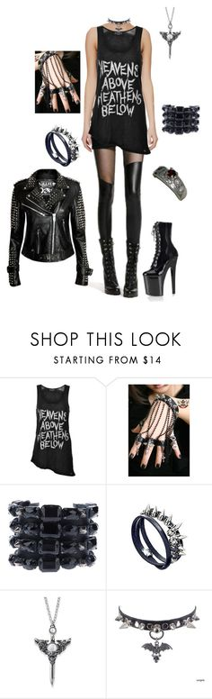 """""""Morgana - Casual"""" by shaydecay ❤ liked on Polyvore featuring Evil Twin, Emanuele Bicocchi, Crezus and Killstar"""