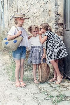 What's not to love with these classic French looks. I adore the gingham dress. I also like the gingham skirt with circle rattan bag.
