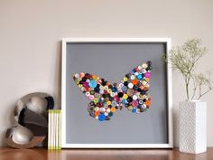 The Daily Telecraft: DIY: How to Create a Framed Button Artwork