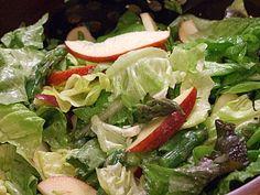 Asparagus Apple Salad w/Blue Cheese Vinaigrette. Must try soon