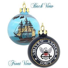 US Navy Glass Christmas Ornament   Us, Personalized christmas ...