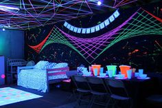 This is yarn! Anyways lots of helpful cost effective tips for a neon party