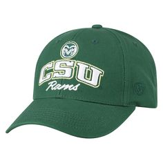 detailed look 5f97d 16cc0 ... official adult top of the world colorado state rams advisor adjustable  cap mens dark green 02260