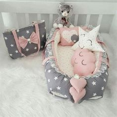 Baby Room Diy, Baby Girl Nursery Decor, Baby Room Decor, Baby Nest Bed, Baby Bedding Sets, Baby Swings, Kids Pillows, Reborn Baby Dolls, Handmade Baby