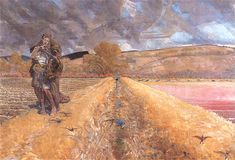 Saint Agnes - Jacek Malczewski  1920