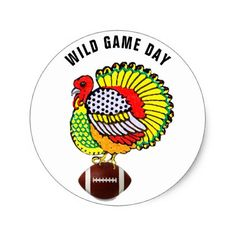 Thanksgiving football game classic round sticker - thanksgiving day family happy thanksgiving holiday