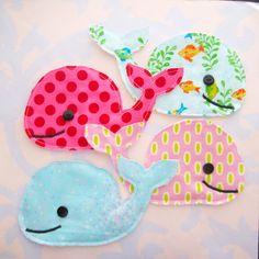 Whale Appliques