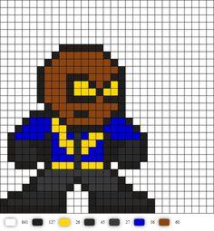 Black Lightning DC Perler Bead Pattern